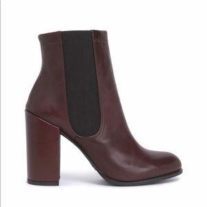 Stuart Weitzman Brown Leather Booties